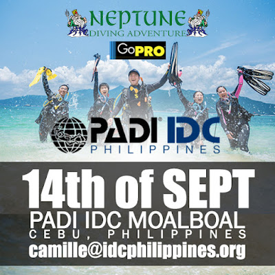 Next PADI IDC in Moalboal, Philippines starts 14th September 2016