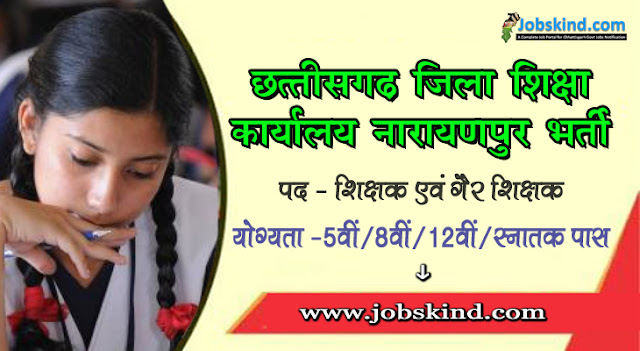 Cg DEO Narayanpur Recruitment 2020 Chhattisgarh Govt Job Advertisement Govt. English Medium School Singoditarai Narayanpur Recruitment All Sarkari Naukri Information Hindi.