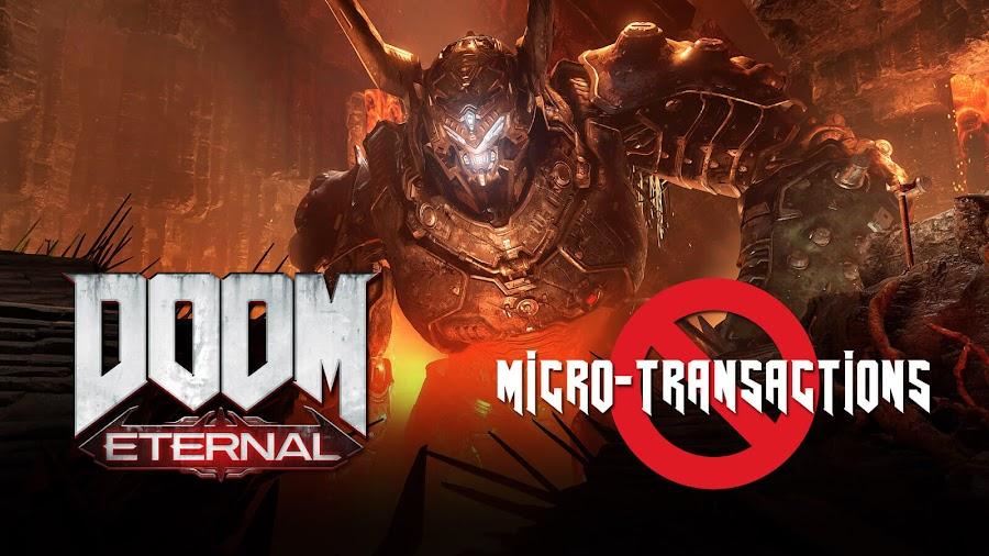 doom eternal no micro transactions loot box cosmetic xp id software bethesda pc ps4 stadia xb1