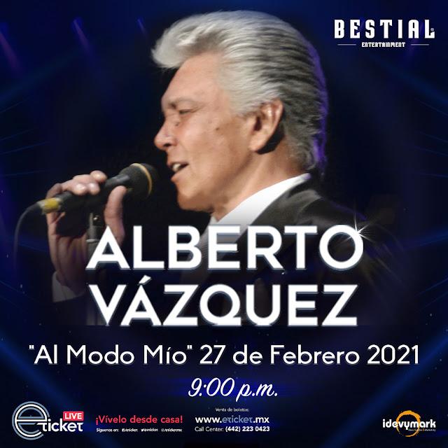 """Alberto Vázquez llega al streaming con su show íntimo y acústico """"¡Al modo mío!"""""""