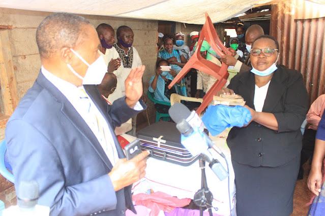 Kangema MP Muturi Kigano at the burial
