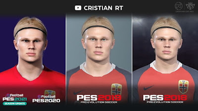 PES 2021 Faces Erling Braut Haaland by Cristian CRT