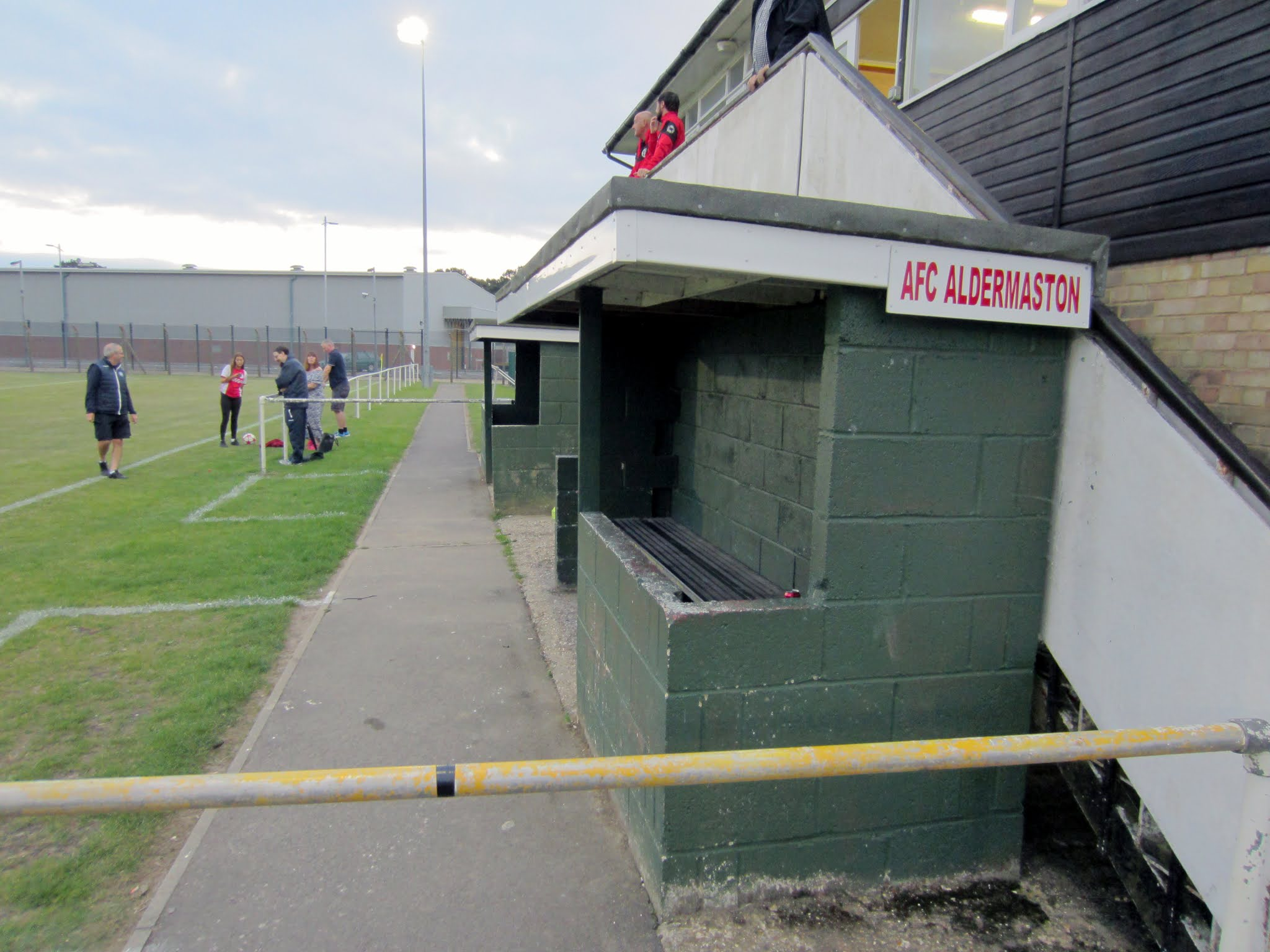 The dugout at the Aldermaston Recreational Society