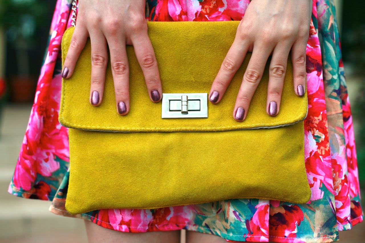 floral dress romwe yellow suede platforms opi nails meet me on the star ferry swatch