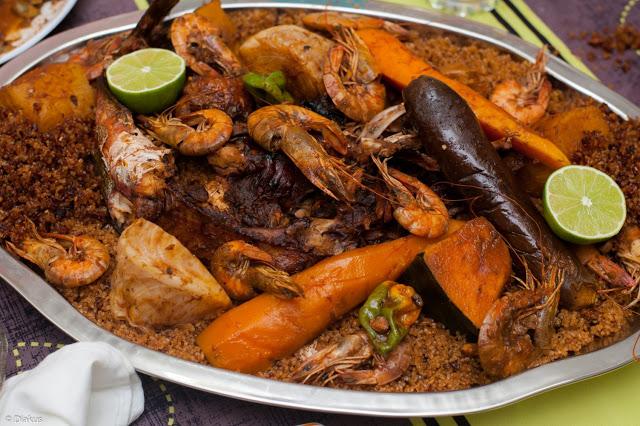 Thiebu guej, un patrimoine local Sénégalais : Cuisine, riz, haricot, poisson, sec,Thiébou, guedj, tomate, recette, plat, repas, LEUKSENEGAL, Dakar, Sénégal, Afrique