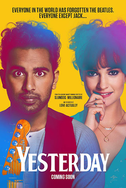 Movie Poster for the Universal Pictures Beatles-inspired film Yesterday, directed by Danny Boyle and starring Himesh Patel and Lily James