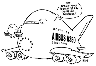 Jet Airlines: Jumbo Jet Cartoon