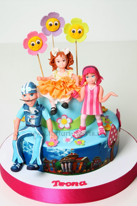lazy town cake torturi viorica s cakes teona in lazy town 5437