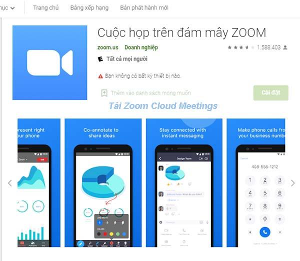 Tải Zoom Cloud Meetings - Học trực tuyến về máy tính, PC miễn phí a