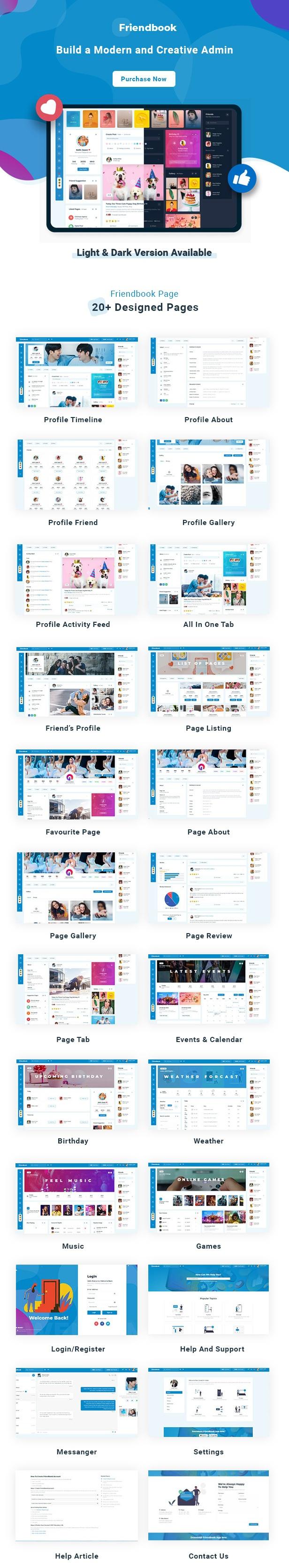 Social Network Social Media Community UI Toolkit Responsive HTML Template
