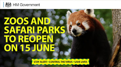 Zoos reopen 15th June