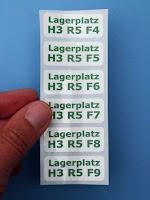 etiketten mit fortlaufender nummerierung
