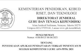 Edaran Resmi Penjelasan Tombol Reset Pendaftaran PPPK Tahun 2021