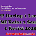 RPP Daring 1 Lembar SD/MI Kelas 1 Semester 1 Revisi 2020