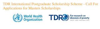 TDR International Postgraduate [Masters] Scholarship Scheme - 2018/2019
