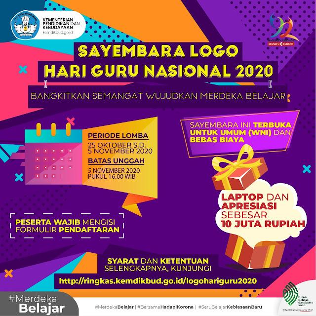 Ayo Ramaikan, Sayembara Logo Hari Guru Nasional 2020 Kemdikbud RI
