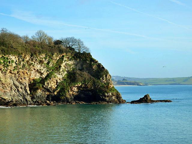 Porthpean beach and cliffs, Cornwall