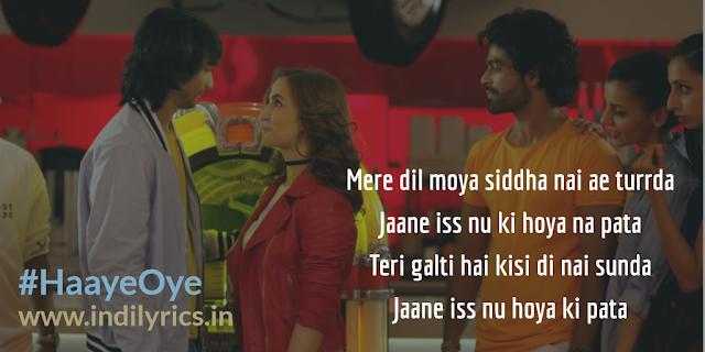 Haaye Oye | Qaran | Santanu & Eli | Lyrics | Quotes | Images