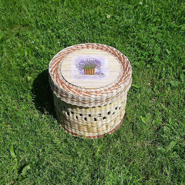 wyplatankowy koszyk, papierowa wiklina