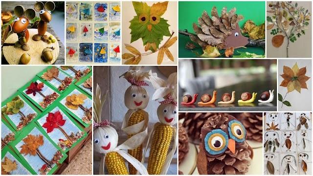 Φθινοπωρινές Κατασκευές για Παιδιά από φυσικά υλικά