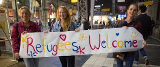 беженцы в кёльне, бонне и дюссельдорфе