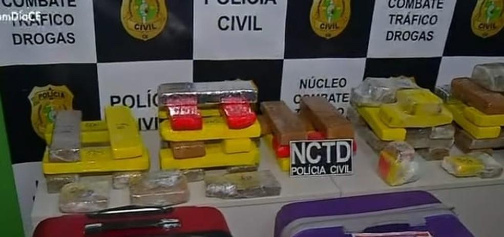 Polícia apreende cerca de 30 kg em Brejo Santo com auxílio de cão farejador