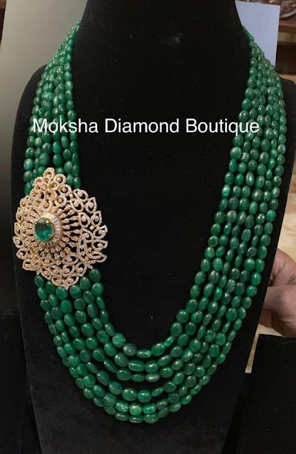 Seven Layers Emerald Beads Set