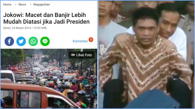 Menagih Janji Jokowi yang Katanya Lebih Mudah Atasi Banjir DKI Kalau Jadi Presiden
