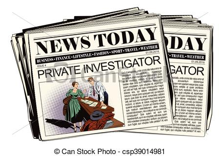 Newspaper online Detective meaning