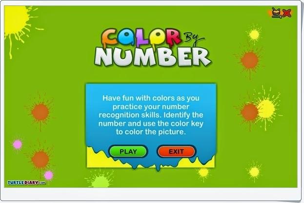 """""""Color by Number"""" (Juego de Números y Colores en Inglés de Infantil)"""