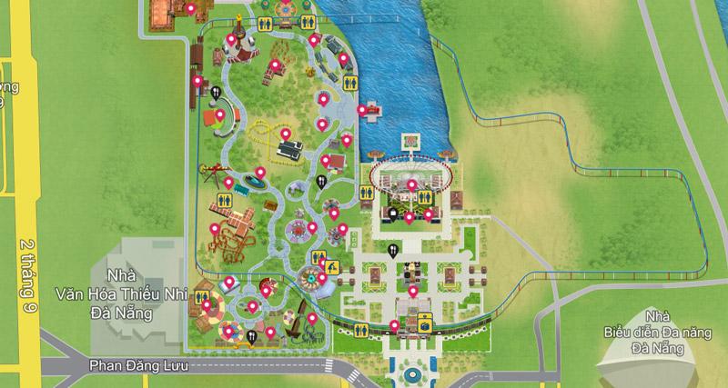 Bản đồ Công Viên Châu Á Đà Nẵng (Ảnh sưu tầm)
