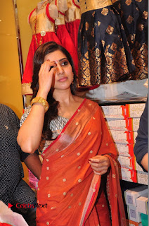 Actress Samantha Pictures in Saree at South India Shoping Mall Launch 0350