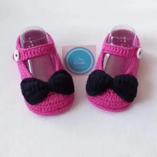 Zapatos lazitos a Crochet