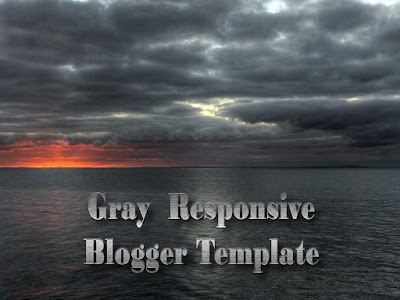 gray color responsive blogger templates