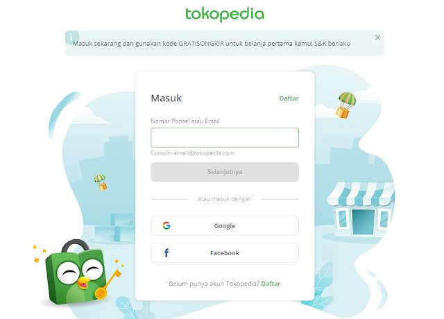 contoh web phising tokopedia