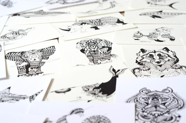 Gunns Designs, hand drawn prints