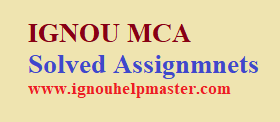 IGNOU MCA Solved Assignment For 2021-22 Session