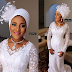 Check-Out Fatima Dangote's Stunning Look & Gorgeous White Dress To Her Nikkai Ceremony [Photos]