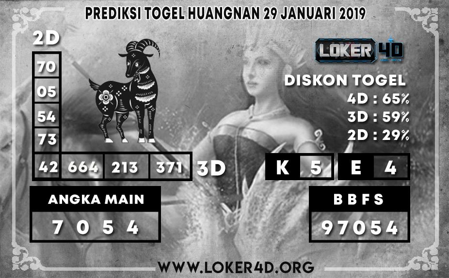 PREDIKSI TOGEL HUANGNAN LOKER4D 29 JANUARI 2020