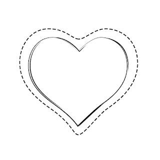 מסגרת לב מקווקוות