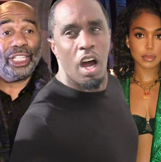 Family Affair!! Photos Of Sean Diddy Cuddling Steve Harvey's Daughter, Lori In His Face.