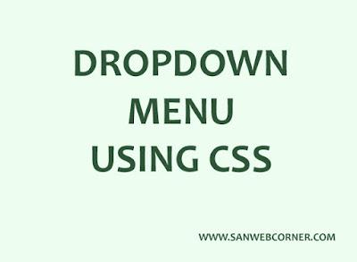 dropdown menu usign css
