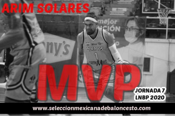 Top 12 LNBP Jornada 7 : Arim Solares se destaca con 22 puntos