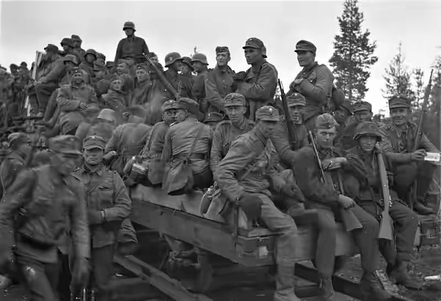 Finnish and German troops, 22 August 1941 worldwartwo.filminspector.com