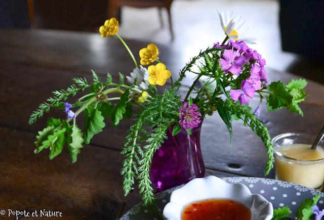 Samossas au lierre terrestre et au chèvre -miel © Popote et Nature