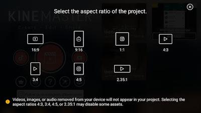 اختيار حجم الفيديو في kinemaster