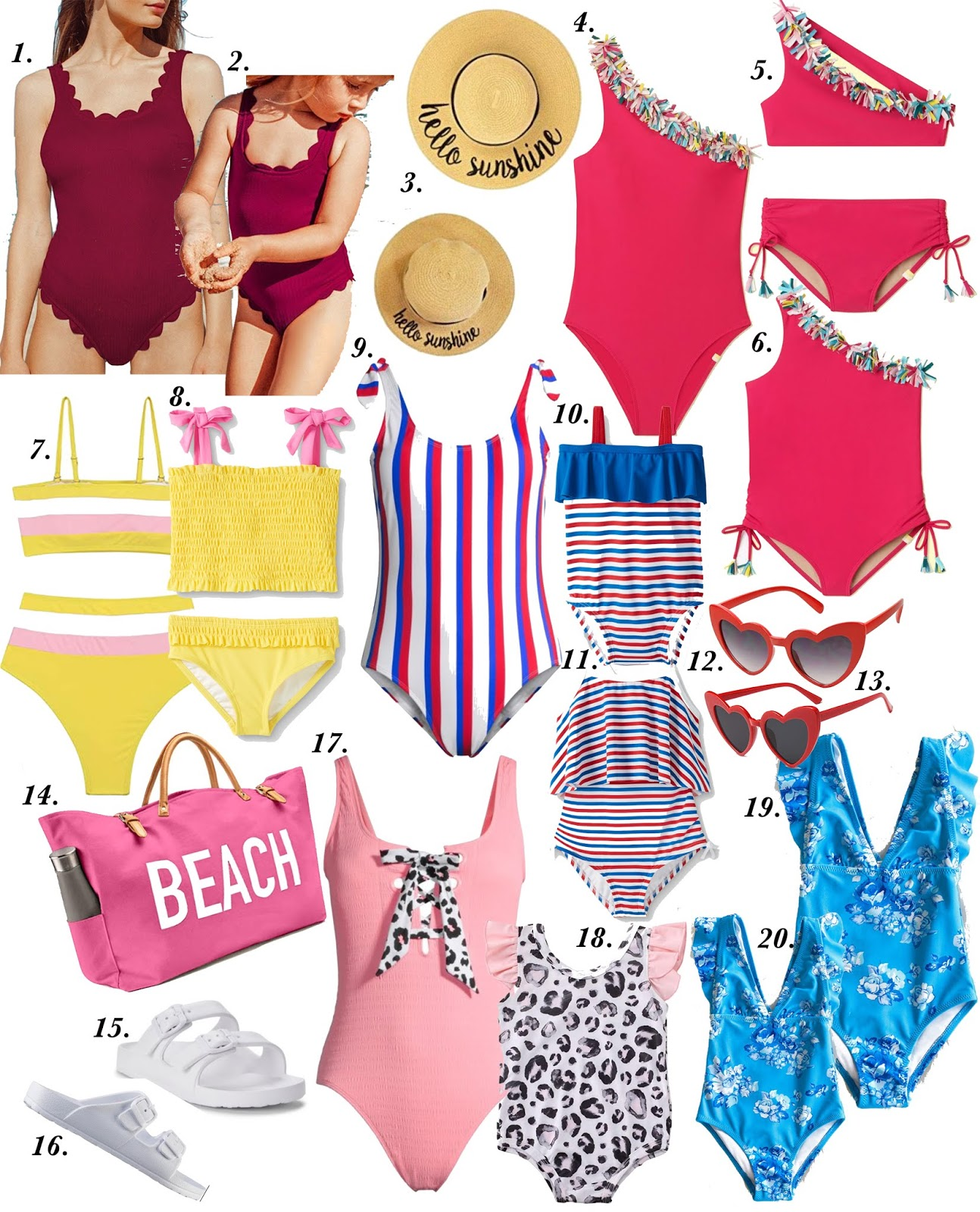 The 2020 Ultimate Guide To Mommy & Me Swim Looks - Something Delightful Blog #mommyandmeswim #kidsswimsuits #affordableswimsuits #summerstyle