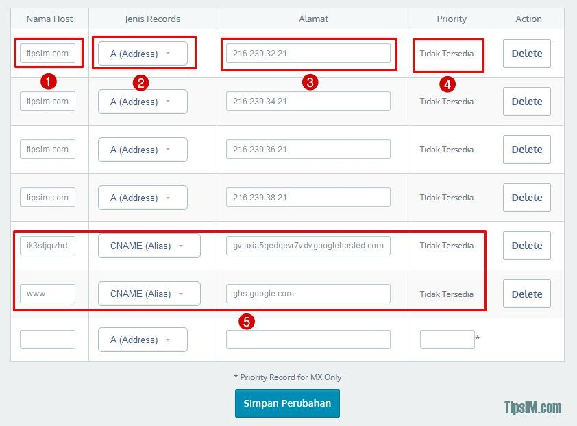 Panduan Cara Custom Domain Blogspot di IDwebhost