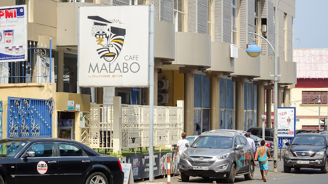 In downtown Malabo there is much activity