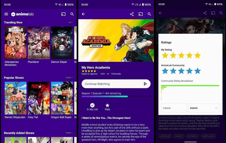 تطبيق Animelab Anime Streaming